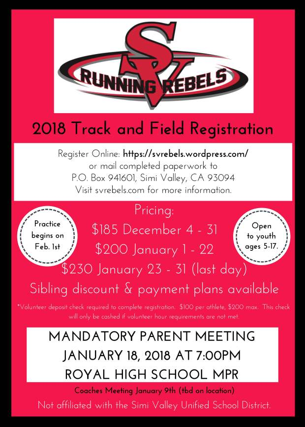 Rebel Flyer Track 2018