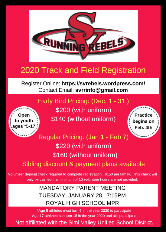 Rebels 2020 flyer